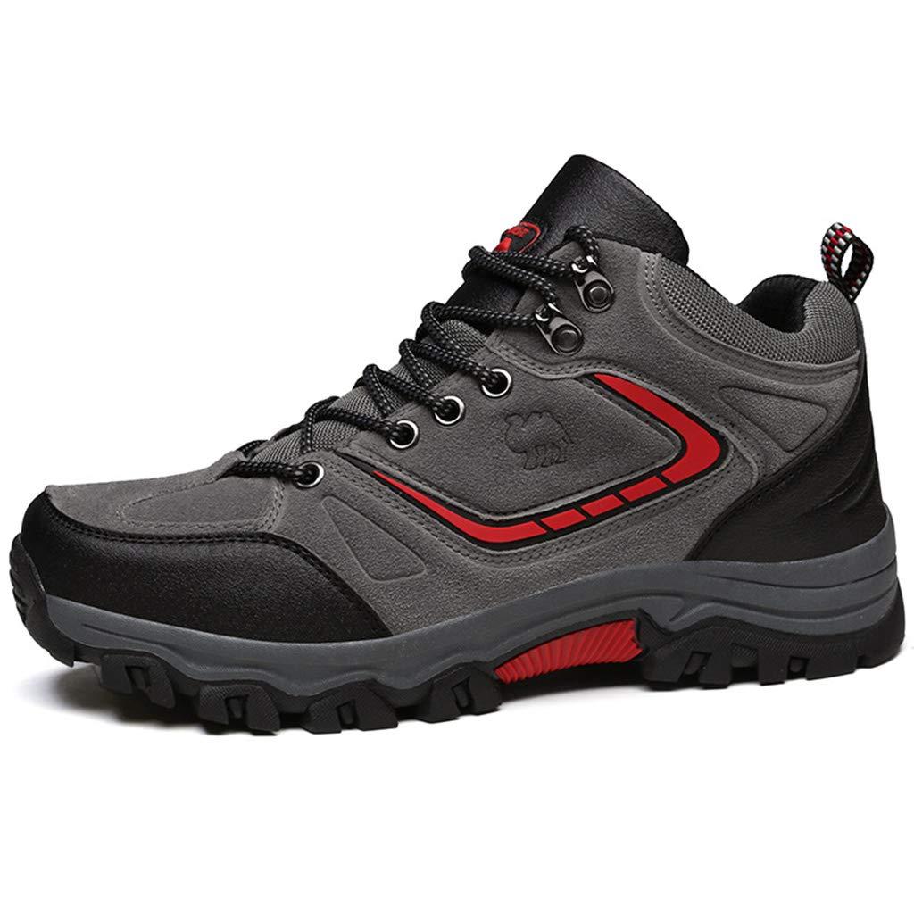 ZPWY Botas de Senderismo Rainers de Alta Ayuda para Hombres Zapatillas Antideslizantes Calzado Ligero Zapatillas para Trekking al Aire Libre Escalada Running, Gray red-39: Amazon.es: Hogar