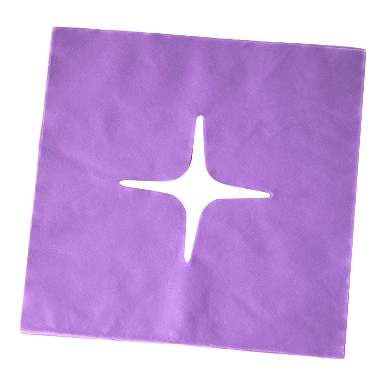 犯す毎日アーティキュレーションchiwanji マッサージ フェイスクレードルカバー スパ用 美容院 ビューティーサロン マッサージサロン 全3色 - 紫の