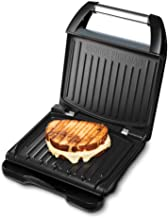 George Foreman 25041-56 Family Steel Contactgrill, Panini- en Sandwichgrill, 28 x 17 cm grilloppervlak, Roestvrij Staal