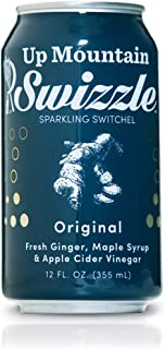Up Mountain Swizzle Sparkling Beverage | All Organic - Fresh Ginger, Maple Syrup and Apple Cider Vinegar | Healthy Sports Drink and Cocktail Mixer (6-pack)