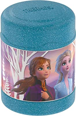 Thermos Stainless Steel 10 Oz Food Jar Frozen 2 - Blue Glitter