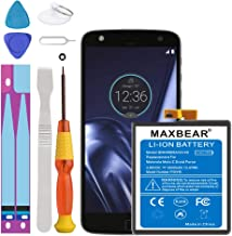 Moto Z Droid Force Battery, MAXBEAR [3500mAh] Li-Polymer Built-in Battery SNN5968A GV40 Replacement for Motorola Moto Z Droid Force XT1650 with Repair Tool Kits.[24 Month Warranty]