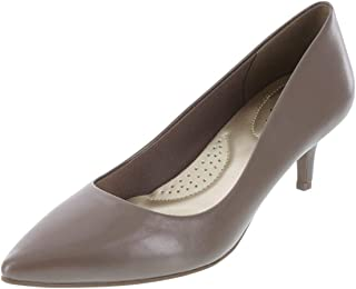 dexflex Comfort Taupe Smooth Women's Jeanne Pointed-Toe Pump 5 Wide
