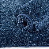 YIQI Alfombra de baño Absorbente de Agua Extra Gruesa Alfombra de baño de Microfibra Alfombra de baño Antideslizante Alfombras Gruesas de Felpa Lavables a máquina (Navy 40x60 cm)