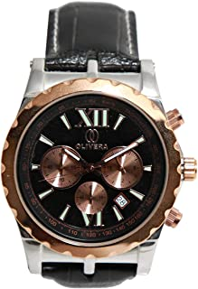 Casual Watch for Men by Olivera, Gold,Round,OG423