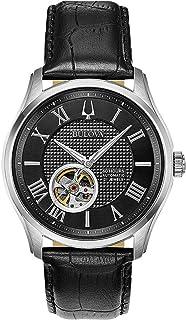 Bulova - para Hombre Reloj automtico Correa de Cuero Negro 96a217