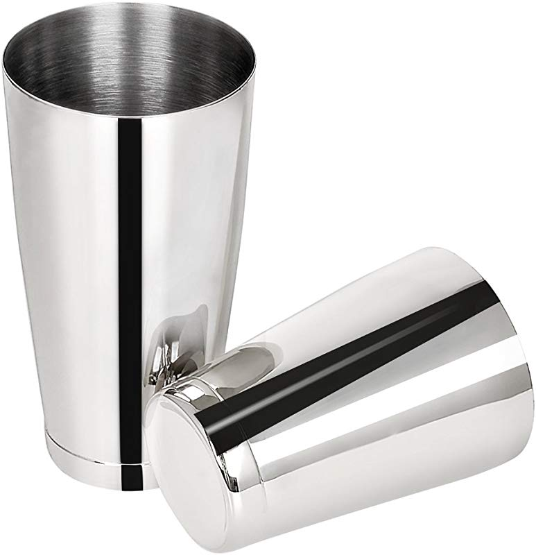 Barfame Boston Shaker Tins 304 Stainless Steel Cocktail Shaker With 2 Pieces 18oz 28oz Silver