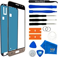 MMOBIEL Front Glass Replacement Compatible with Samsung Galaxy J3 J320F (2016) Series (Gold) Glass incl Tool Kit