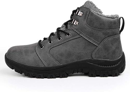 RYRYRB Outdoor hoch, um zu helfen Plus Samt Baumwolle Schuhe Herren Sportschuhe Herrenschuhe Schneeschuhe Rutschfeste Flut Schuhe Wanderschuhe Einfache und Bequeme Freizeitschuhe