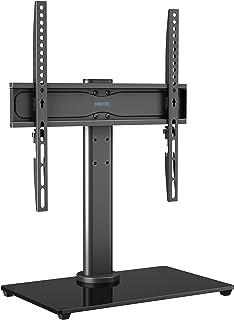 BONTEC Podstawka pod telewizor, stojak do telewizora, wychylna do 26-55 cali, LCD LED, OLED, telewizor plazmowy, płaski i ...