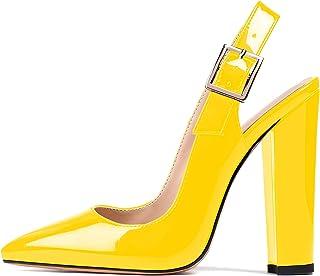 "elashe Scarpe col Tacco - Decolleté Chiuse Donna - Elegante Alto 4.7"" - Tacco a Blocco"
