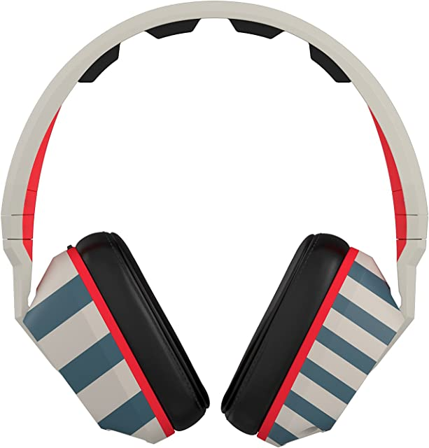 Crusher Headphones with Mic Stripes/Tan/Navy, One Size
