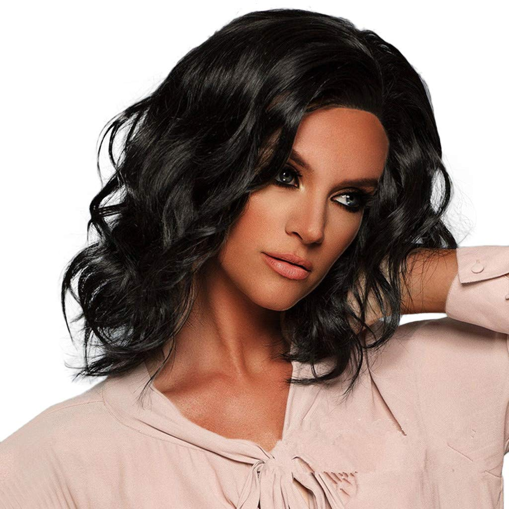 Highpot Short Black Hair Wigs For Women Wavy Curly Cosplay Daily Wig Natural Hair Buy Online In China At Desertcart