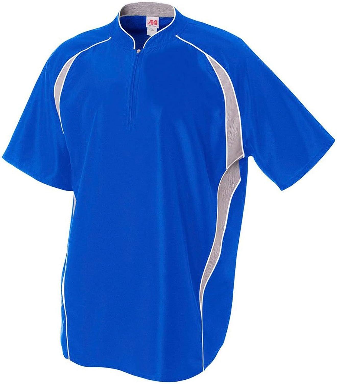 A4 mens 1 4 Zip Batting Jacket (N4241)