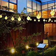 Outdoor Solar String Light Garland 50LED Fairy String Lights Bubble Crystal Ball Lights Decorative Lighting for Indo or Ga...
