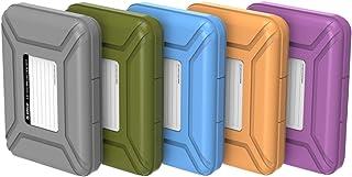 ORICO 3.5インチ ポータブル ハードディスク用 収納ケース HDD保管ケース 書き込みラベル付き 5台セット 防湿 耐衝撃 防塵 PHX-35