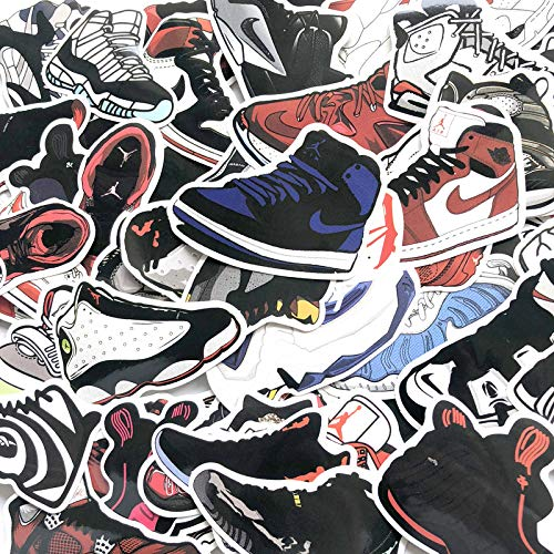 AXHZL /Lot Basketball Stars Sneakers Stickers for Skateboard Travel Case Laptop Notebook Guitar Car Vinyl Dope Sticker Decals 100Pcs