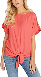 BUFFALO Ladies' Tie Front Top Pink
