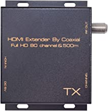 Nrpfell Hdmi Dvb-T Modulador Convierta Se?al del Extensor Hdmi A Digital Dvb-T Hdmi A Dvb-T Modulador Receptor De TV Soporte RF Salida Enchufe De La UE