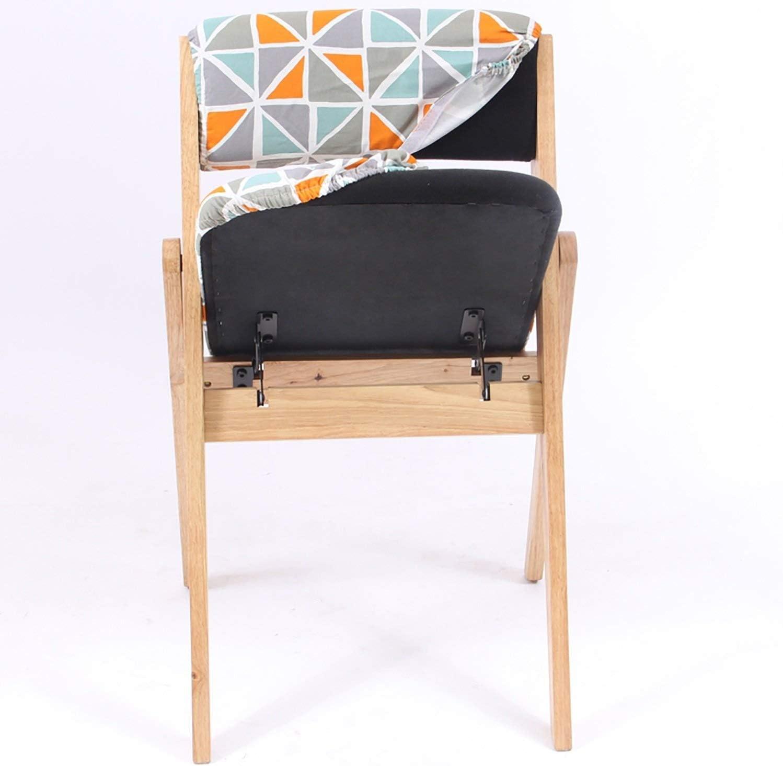 Chaise Pliante Dossier Chaise de Salle à Manger Chaise de réception Ménage Loisirs Bureau de la Famille Restaurant Café en Bois Massif (Color : J) F