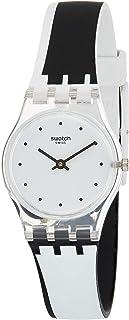 Swatch Womens Quartz Watch, Analog Display and Silicone Strap LK370