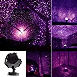 INLAR Star Sky Projection Lamp, Celestial Star Cosmos Projector Starry Sky Night Light for Children Adults Bedroom(Purple)