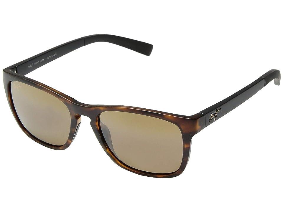 Maui Jim Longitude (Matte Tortoise with Black Temples/HCL Bronze) Fashion Sunglasses