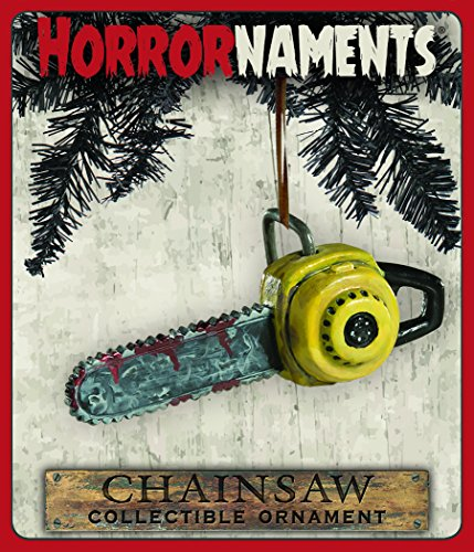 Bloody Chainsaw Ornament - Scary Prop and Decoration for Halloween, Christmas, Parties and Events - By HorrorNaments