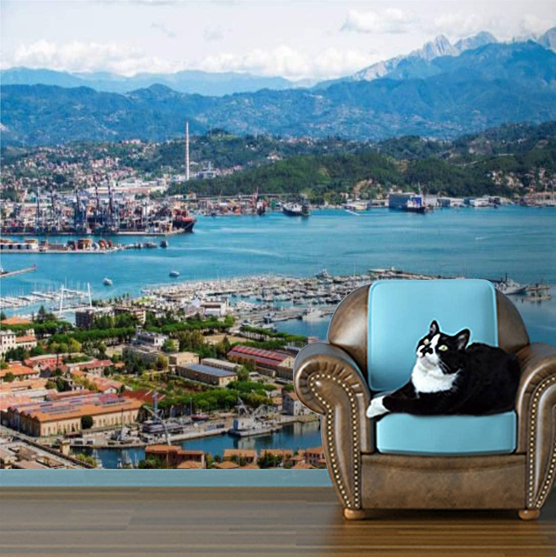 Wallpaper Panorama of La Directly managed store Spezia Cheap mail order sales Removable Self Italy in Adhesive