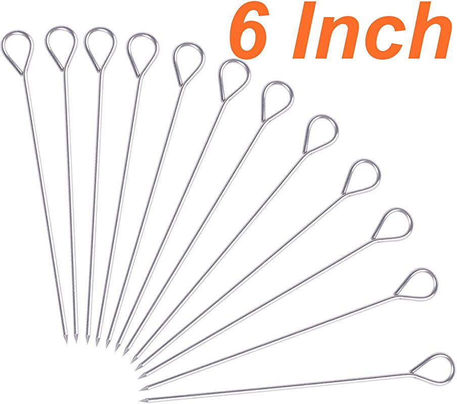 HONSHEN Turkey Lacers For Trussing Turkey 6 Inches Stainless Steel Set Of 12