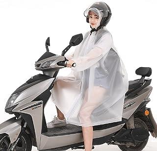 ZXQZ 大人のレインコートアウトドアハイキング観光ファッションレインコートのシャムシングル人の電気自動車ポンチョポータブル防水レインコート ポンチョ (色 : 白, サイズ さいず : Xl xl)