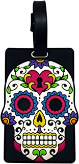 Day of the Dead Luggage Tag - White