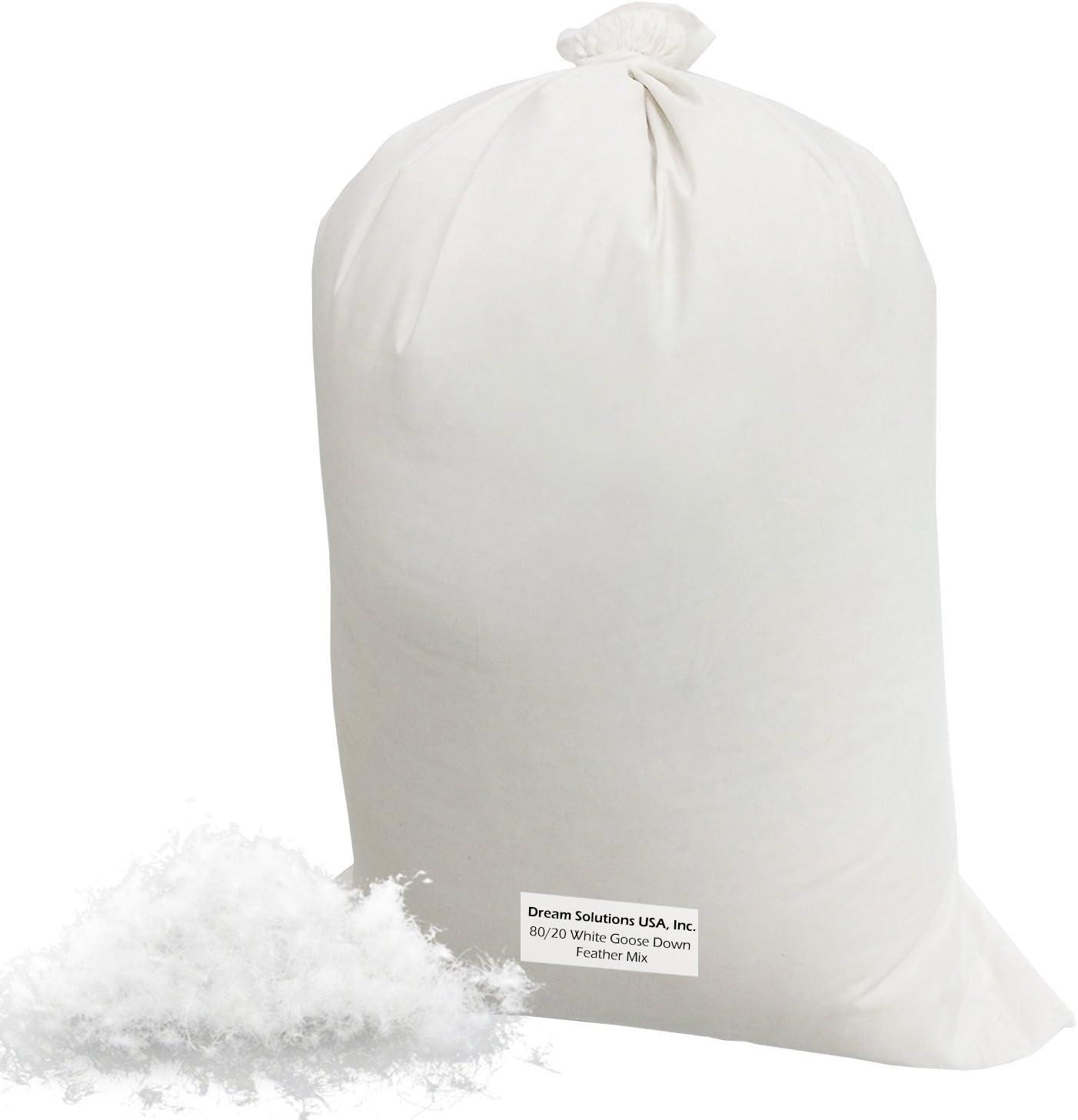 Bulk Goose Down Filling 80/20 (4 lbs) 100% Natural White Down an