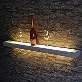 s.LUCE Cusa LED Leuchtregal Lichtboard 100 cm satinierte Glasfläche beleuchtetes Wandregal für Küche Wohnzimmer Esszimmer Dekoregal Wandlampe Lampe Leuchte Wandregal