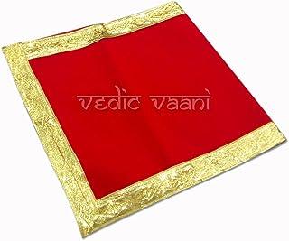 Vedic Vaani Velvet Pooja Aasana (13 x 27 inch, Multicolour)
