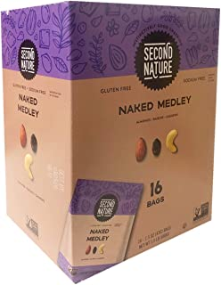 Second Nature New Gluten Free Medley Trail Mix Family Size Box 1 Bpx (16bags) (Naked Medley)