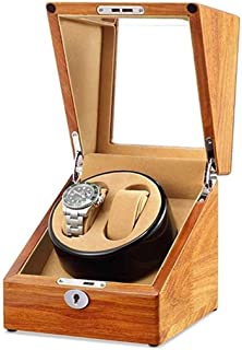 Gift Watch Winder Watch Winder, Automatic Ultra Quiet Mini Single Head 2+0 Household Portable Rotate Motor Box Turn Table Device Winding Boxs