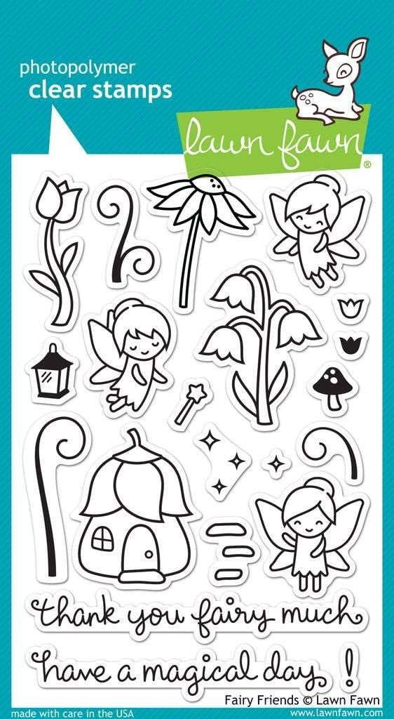 Lawn Fawn Clear Stamp - Fairy Friends (LF1057)
