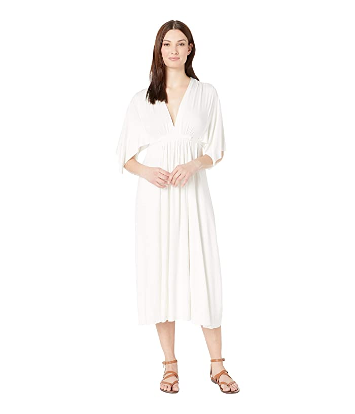 Rachel Pally Mid Length Caftan Dress (White) Women's Dress