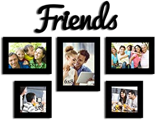 Art street My Best People - Set of 5 Individual Wall Photo Frames with Friends MDF Plaque