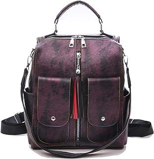 Coolives Damen Rucksackhandtasche Teenager Mädchen Rucksäcke Daypack mit Schulterriemen Schultertasche Lila EINWEG