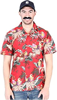 Jungle Bird Magnum PI Tom Selleck Red Costume Shirt and Hat (Adult)