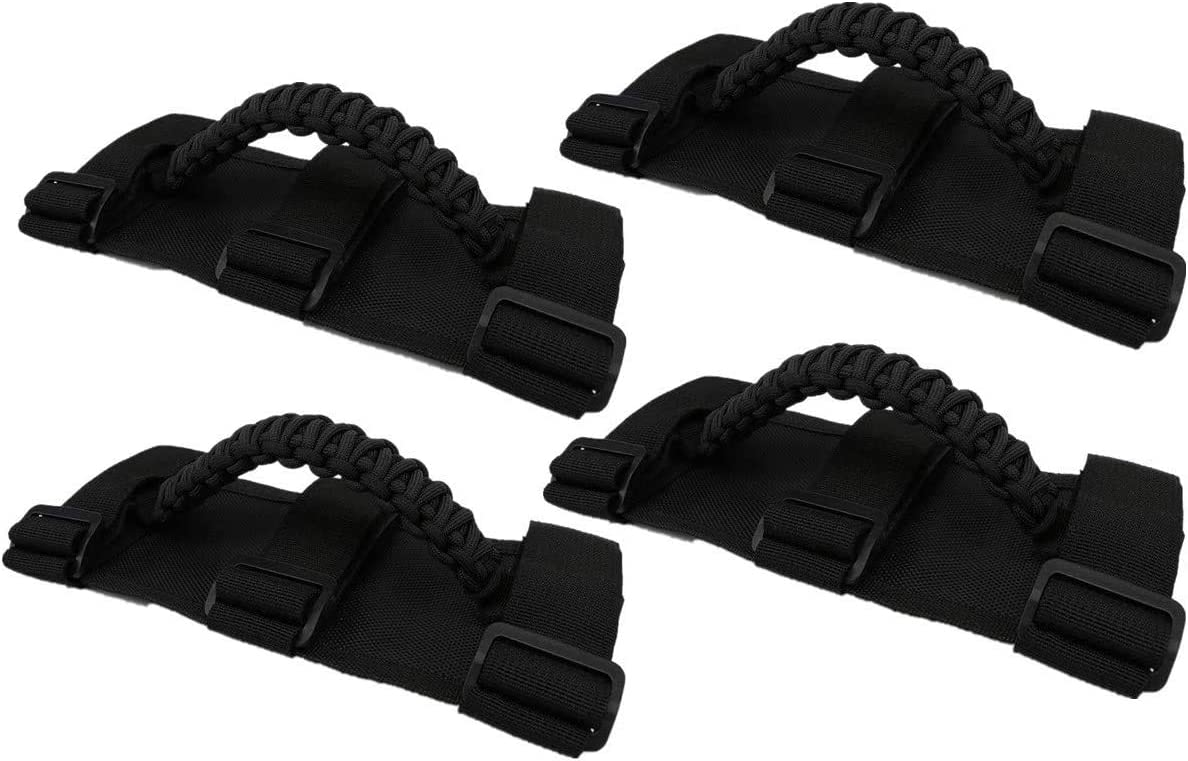 1986-2020 buyinhouse 2 X Roll Bar Grab Paracord Grab Handles Fit for 2 to 3-inch Roll Bars for Most Jeep Wrangler Models TJ CJ YJ JK JKU JL JLU Orange Sport//Willys//Sahara//Rubicon