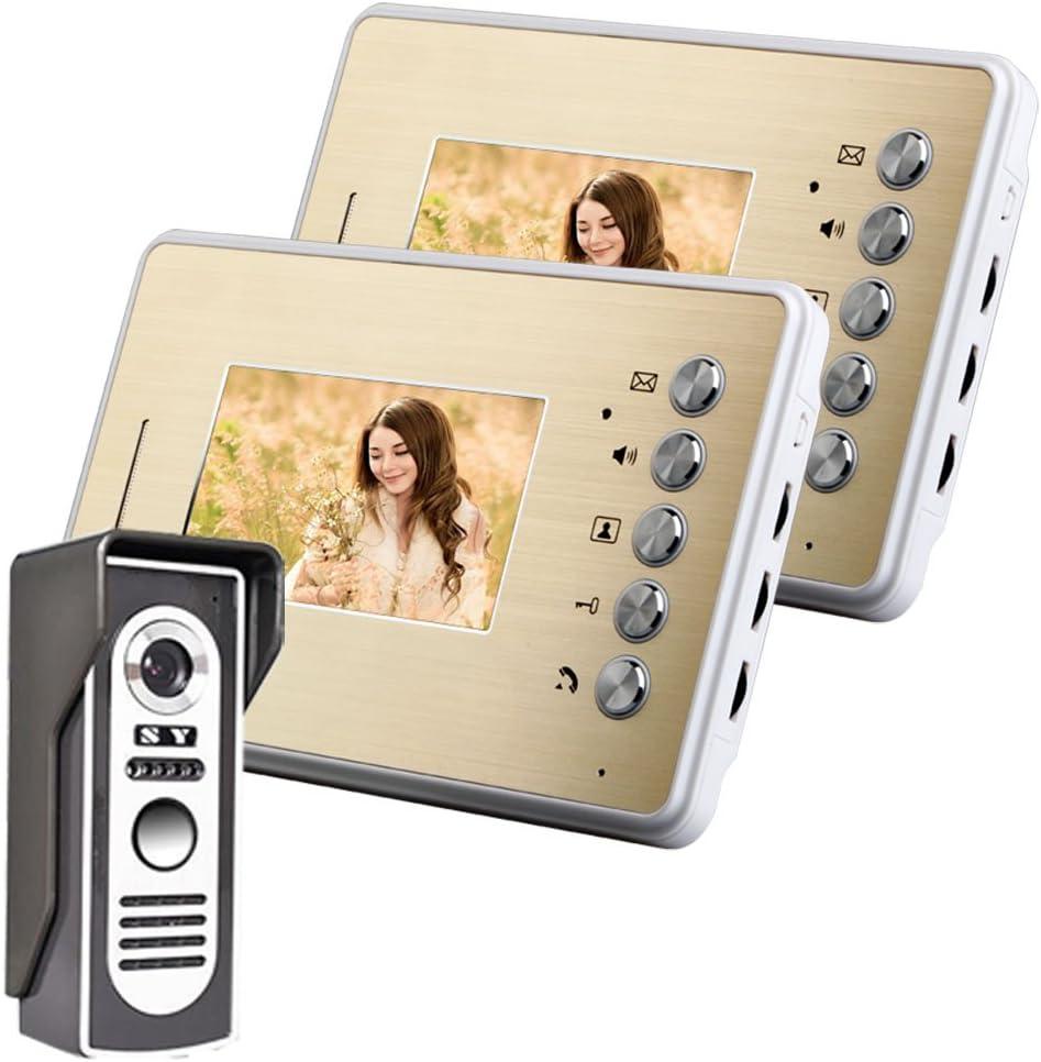 Cheap sale COUYY 4.3 Inch Video Door Phone Kit 1-Camera Intercom 2 Max 46% OFF Doorbell