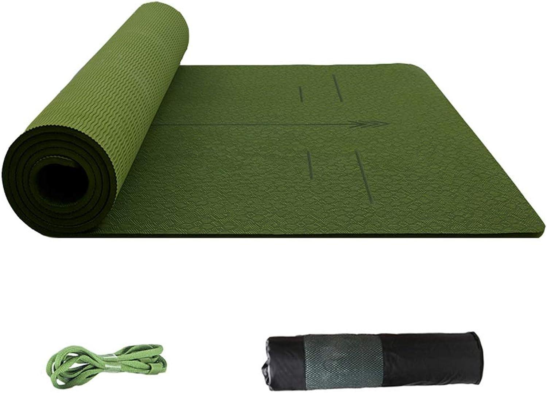 Fishedische Form Hohe Dichte, Rutschfeste Multifunktion Fitnessmatte Yoga Mat Schaumstoff Pad mit Gurt und Tasche