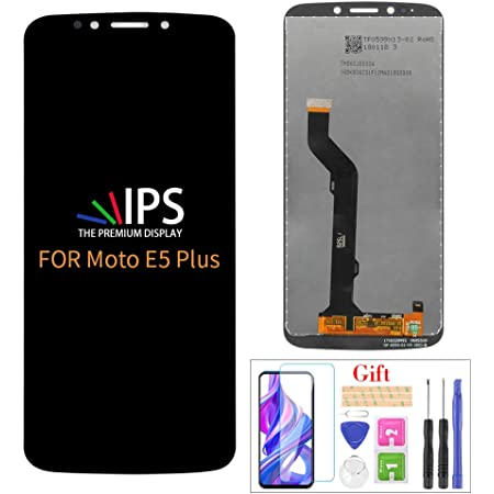 Compatible with Moto E5 Plus Screen Replacement, for Motorola Moto E5 Plus XT1924-1 XT1924-2/3/4/5/7/8/9 LCD Display Touch Screen Digitizer Assembly Parts,with Screen Protector+Tools(Black)