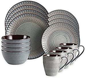 Gourmet Basics by Mikasa Broadway 16-Piece Dinnerware Set by Gourmet