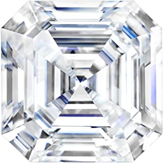 Charles&Colvard Forever One Colorless(D-E-F) Loose Created Faceted Asscher-cut Moissanite