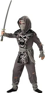 InCharacter Costumes, LLC Boys 8-20 Zombie Ninja Tabard Set, Gray, Medium