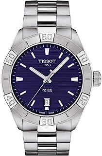 mens PR 100 Classic Stainless Steel Dress Watch Grey T1016101104100